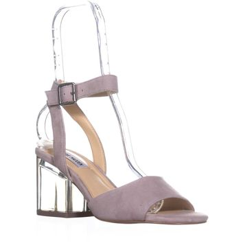 Steve Madden Debbie Heeled Sandals, Grey Suede, 8 US