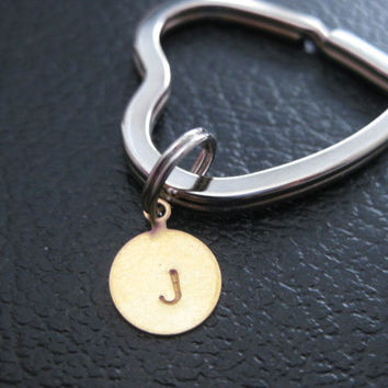 Mother Daughter // Key Ring //  Mother Daughter jewelry  // Inspirational Gift // HEART-Initial Key Chain