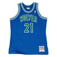 Mitchell & Ness Kevin Garnett 1995 Authentic Jersey Minnesota Timberwolves In Royal