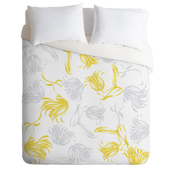 Vy La Bright Breezy Tulips Duvet Cover
