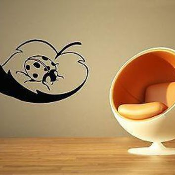 Wall Sticker Vinyl Decal Leaf Ladybug Insect Nice Decor for Room Unique Gift (ig1147)