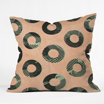 Nick Nelson Frayed Throw Pillow
