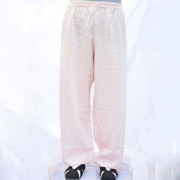 High-grade Linen Wudang tai chi pants kung fu martial arts Yoga practice performance trousers morning exercise for men women