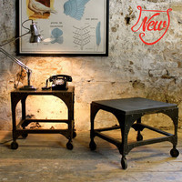 Industrial Slate-Topped Tables