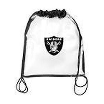 NFL Raiders Clear Drawstring Backpack