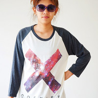 Size M -- THE XX Coexist T Shirts The xx Shirt Indie Pop Shirts Jersey Tee Baseball Tee Raglan Tee Long Sleeve Unisex Shirts Women Shirts