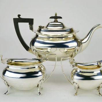 Walker & Hall Silver Plated Tea Set Teapot Antique English circa 1905