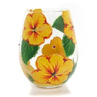 Tabletop HIBISCUS LOVE MY WINE Glass Lolita Stemless Wine Glass 6001315