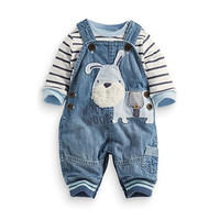 Cute Baby Boys Clothes Toddler Boys'  Overalls Stripe Rompers Sets