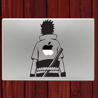"Sasuke Uchiha Naruto Decal Sticker For Macbook 13"" 15"" Inch Pro Air Retina Laptop Notebook Accessories Vinyl Cover"