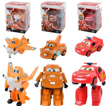 Disney Pixar Cars3 Toys For Kids LIGHTNING McQUEEN High Quality Plastic Cars Toys Cartoon Robot Models Christmas Gifts