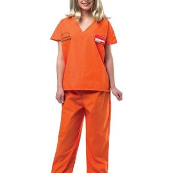 Adult Orange Prisoner Costume - Orange is the New Black- Party City