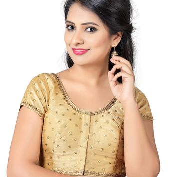 Captivating Gold Dupian Silk Saree Blouse SNT-X-455-SL