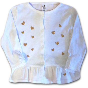 Hearts of Gold long sleeve baby shirt