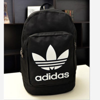ADIDAS Fashion Hot Women Men Backpack Black(white letters)