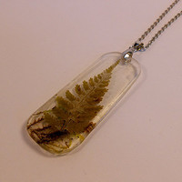 Fern and Moss Pendant Necklace