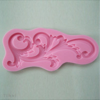 Baroque Flower Silicone Lace Fondant Mould Cake Decorating Chocolate Baking Mold = 5658084289