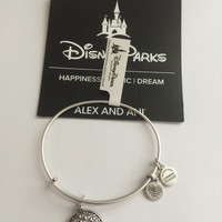 Disney Alex and Ani Parks 2017 Epcot Silver Finish Bracelet New with Tags