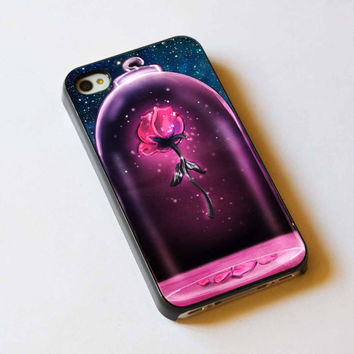 iphone case,rose beauty and the beast,iphone 5 case,iphone 4/4s case,samsung s3,s4 case,accesories,cell phone,hard plastic.