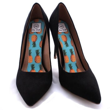 BLACK FRIDAY SALE- 25% off Pineapple Punch Airpufs. Marshmallow shoe cushions, Cheery yellow soft cloud shoe insoles for heels