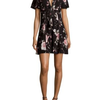 Alice + Olivia - Cary Fit-and-Flare Silk Dress