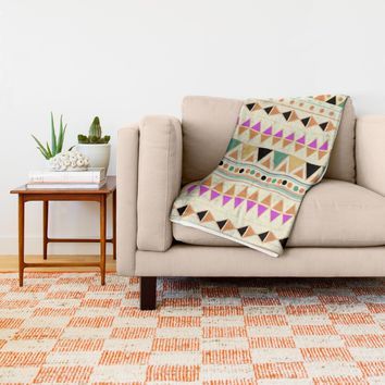 INDIE SUMMER Throw Blanket by Nika | Society6