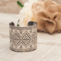 Meadow Aztec Cuff in Silver