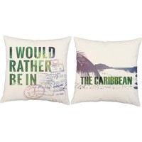 Rather Be In Caribbean Throw Pillows
