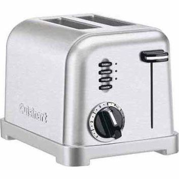 Cuisinart Metal Classic 2-Slice Toaster, Stainless Steel CPT-160 - Walmart.com
