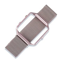 For Fitbit Blaze Band, Wearlizer Milanese Loop Watch Band Replacement Stainless Steel Bracelet Strap With Metal Frame for Fitbit Blaze - Rose Gold Pink Small