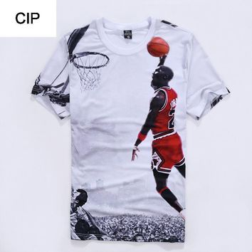 Men's Jordan T Shirt 23 Short Sleeve 3D Printed Tee Shirt 2017 New Men Summer Clothing