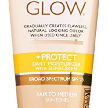 Jergens SPF Glow and Protect Body Lotion, Fair to Med, 6 Ounce