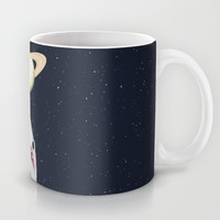The Universe Is A Shark's Playground Mug by Octavia Soldani