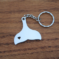 Whale Tail - Metal Keychain