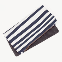 Navy Stripe Clutch
