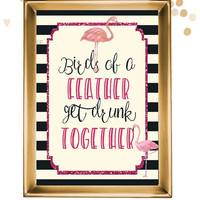 PRINTABLE flamingo bachelorette sign / birds of a feather sign / flamingle sign / bachelorette party sign / flamingo bachelorette party sign