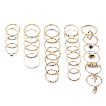 Twisted Ring Set