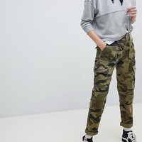 Bershka Cargo Pant In Khaki at asos.com