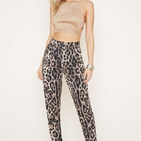 Rise Of Dawn Leopard Pants | Forever 21 - 2000169969