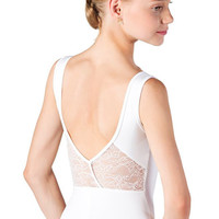 Child Tank Leotard with Lace
