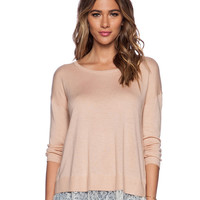 Long Sleeves Round Neck Lace Fringed Knitted Top