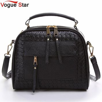 Vogue Star 2017 New Arrival Knitting Women Handbag Fashion Weave Shoulder Bags Small Casual Cross Body Messenger Bag Totes LA451