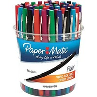 Paper Mate® Liquid Flair® Porous Point Pens, Medium Point, Assorted, 48/Pack | Staples®