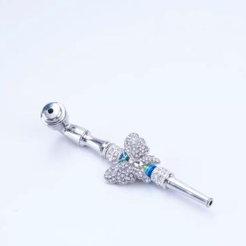 Hand Metal Pipe with Butterfly Designed Shape