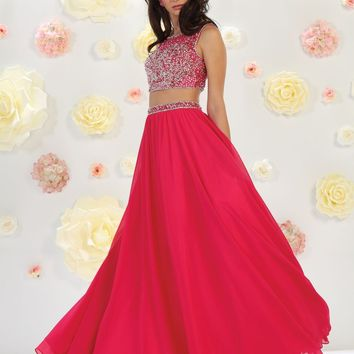 Two Piece Set Prom Long Dress Formal Gown