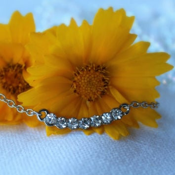 Together Forever Anklet - Swarovsiki clear crystals- Tiffany and co inspired