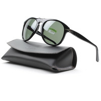 Persol PO0649 95/58 56mm Black Sunglasses with Grey Green Polarized Lenses