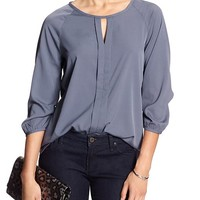 Banana Republic Womens Factory Cut Out Vee Blouse