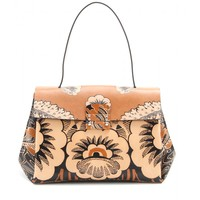 Covered Small printed leather tote