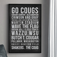 WSU COUGARS Subway Poster